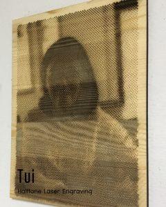 Halftone Laser Engraving