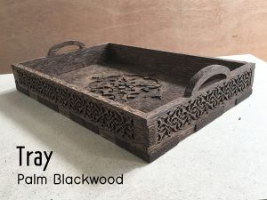 CNC Palm BlackWood Tray