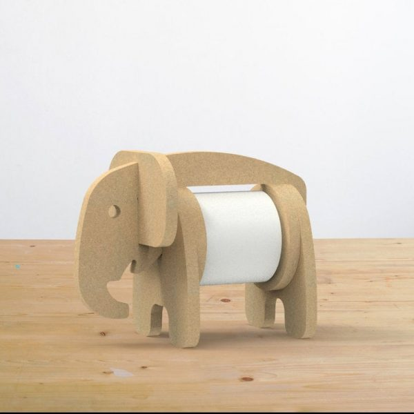 DXF Vector Elephant Tissue stand CNC wood