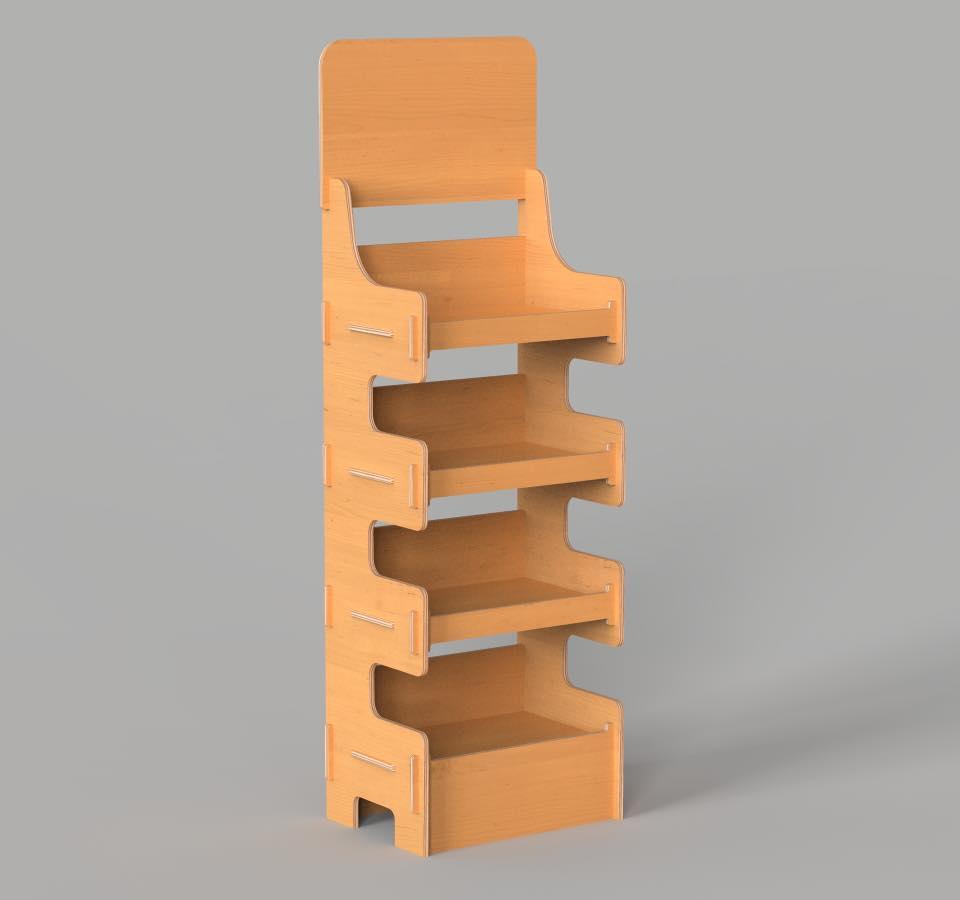 ไฟล์ดิจิตอล DXF Vector SYS Shelf Stand / Plywood Furniture CNC