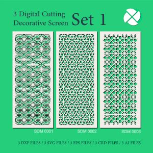 Decorative Screen Symmetrical design for manufacturing Laser CNC