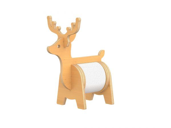 DXF Vector Deer tissue holder stand v.2 Furniture CNC